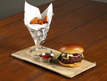 2. Creative Ways to Serve Entrée: Burger and Fries