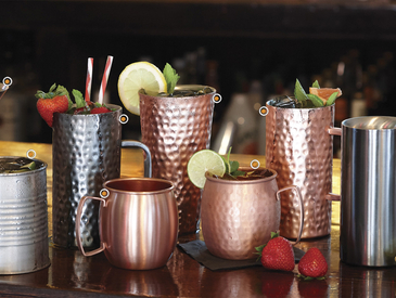 Metal and Copper Barware