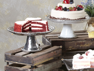 Rustic Cake Stand Display