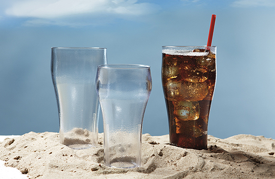 Textured Bell Soda Tumblers