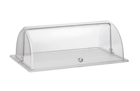 """Clear Plastic Full Size Roll Top Dome Cover. 21.6"""" x 13.7"""", 9.5"""" tall"""