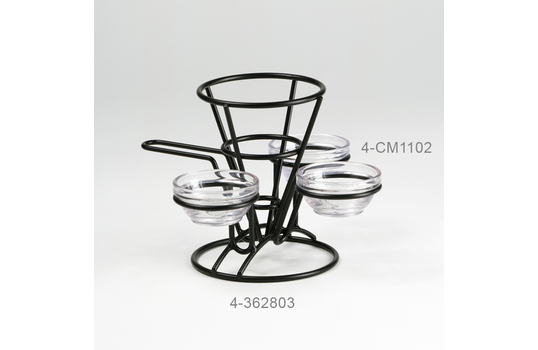 """Fry Cone w/ Handle and 3 Holders, 5"""" dia."""