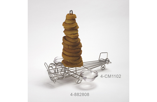 """12"""" x 11"""" Onion Ring Airplane Tower w/ 2 Holders"""