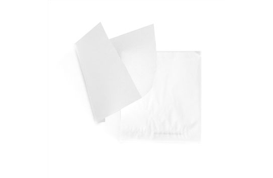 """5.5"""" x 5.5"""" Food-Safe Double-Open Bag / Wire Cone Basket Liner / Deli Wrap, White"""