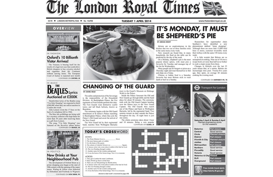 "12"" x 12"" Food-Safe London Newsprint Liner, White"