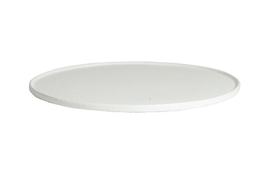 """17.7"""" Large Round Disc with Rim, Classic Finish"""