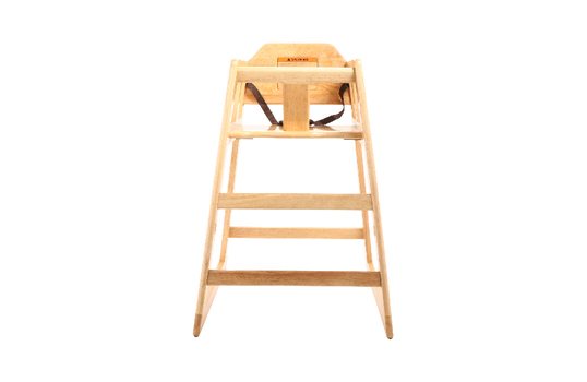 High Chair Modified, Natural Wood, Assembly, 2 per box