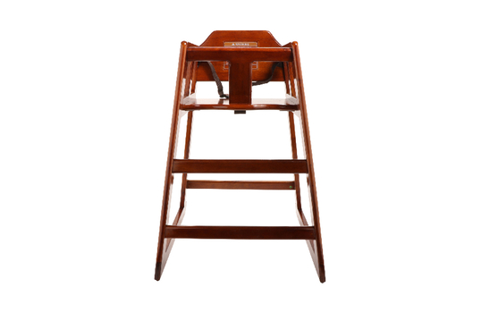 High Chair Modified, Walnut Wood, Knock Down - Assembly Required