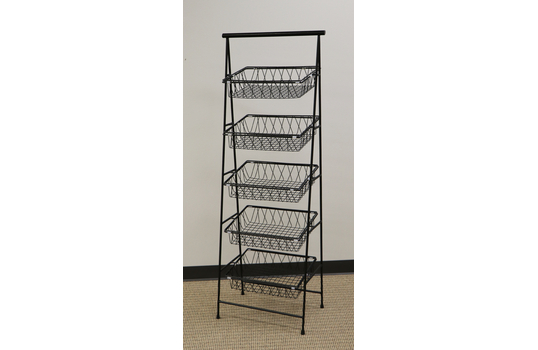 "23.5"" x 14"" Rectangular 5-Tier Tilted Pane Stand"