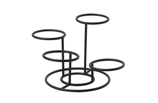 """Wire Stand with 4 Rings, 7.75"""" tall, 4"""" Ring dia."""