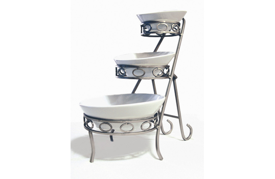 """10"""" x 17.75"""" Oval 3-Tier Angled Riser"""