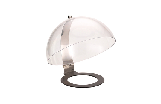 """Clear Buffett Hinged Dome Cover for 16"""" Round Cold Food Display"""