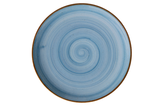 "7"" Blue Porcelain Coupe Plate"