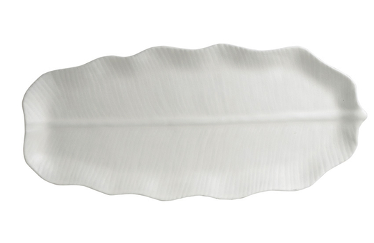 "37.6"" x 16.9"" XL Palm Platter, Mod Finish"