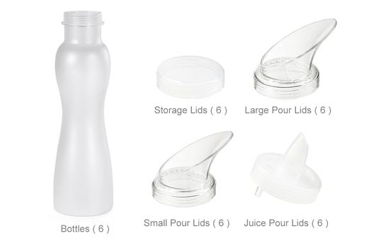 30 pc. Salad Dressing Bottle Set, Frosted Clear