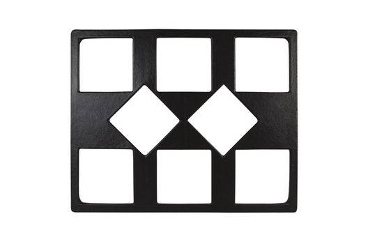 """21.69"""" x 26.5"""" Double Tile with Eight Square openings, Classic Finish"""