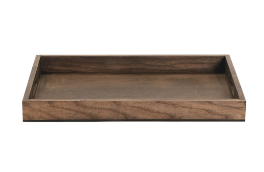 """18.25"""" x 12.5"""" Rect. Walled Ash Wood Serving Tray w/ Handles"""