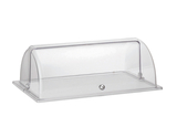 "Clear Plastic Full Size Roll Top Dome Cover. 21.6"" x 13.7"", 9.5"" tall"