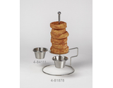 """Onion Ring Tower w/ 2 Holders, 4"""" dia."""
