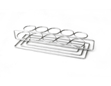 "11.75"" x 3.25"" Dessert Caddy w/ 10 Round Holders"
