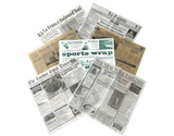 "12"" x 12"" Food-Safe Variety Pack Newsprint Liner"