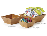 "6.5 qt., 12"" Square Bamboo Bowl Set w/Liner"