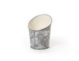 "5"" Dia. Angled Galvanized French Fry Cup"