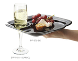 "9.75"" x 9"" Party Plate w/Slot to Hold Drinks"