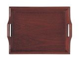 "19"" x 14.25"" Hardwood Room Service Tray"
