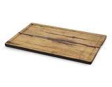"14"" x 9"" Faux Acacia Wood Display Board w/ Ridge & Handles"