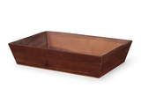 "18.25"" x 12"" Rectangular Wood Tray, 4"" tall"
